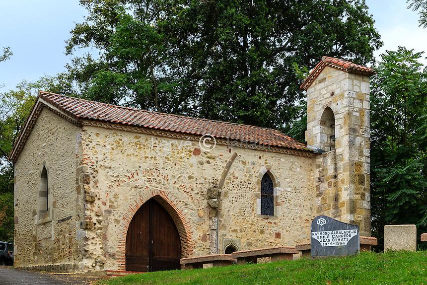 France, Landes (44), Larrivière-Saint-Savin, chapelle Notre-Dame-du-Rugby // France, Landes, Larriviere-Saint-Savin, Notre Dame du Rugby chapel