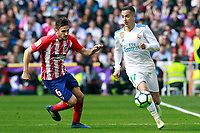 Real Madrid's Lucas Vazquez (r) and Atletico de Madrid's Koke Resurreccion during La Liga match. April 8,2018. (ALTERPHOTOS/Acero) /NortePhoto NORTEPHOTOMEXICO