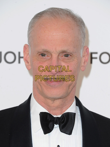 John Waters.The 21st Annual Elton John AIDS Foundation Academy Awards Viewing Party held at The City of West Hollywood Park in West Hollywood, California, USA..February 24th, 2013.oscars headshot portrait bow tie white tuxedo jacket black moustache mustache facial hair                     .CAP/DVS.©DVS/Capital Pictures.