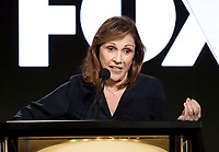 PASADENA - JANUARY 13: Writer/Producer Ann Druyan during the NATIONAL GEOGRAPHIC portion of the 2018 Winter TCA Press Tour at the Langham Huntington Hotel on January 13, 2018, in Pasadena, California. (Photo by Frank Micelotta/National Geographic/PictureGroup)