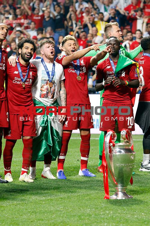 Liverpool team during UEFA Champions League match, Final Roundl between Tottenham Hotspur FC and Liverpool FC at Wanda Metropolitano Stadium in Madrid, Spain. June 01, 2019.(Foto: nordphoto / Alterphoto /Manu R.B.)