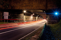 Wilson Tunnel at night, Likelike Highway, Honolulu, O'ahu