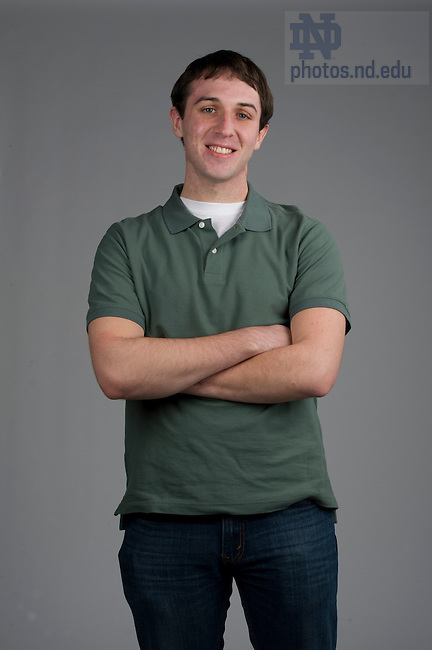 December 2, 2011; Chris Stare - Admissions Student Portraits for Web. Photo by Barbara Johnston/University of Notre Dame.