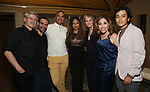 """David Garrison, Javier Munoz, Christopher Jackson, Tracie Toms, Helen Hunt, Andrea Burns and Mateo Ferro attends the Opening Night performance afterparty for ENCORES! Off-Center production of """"Working - A Musical""""  at New York City Center on June 26, 2019 in New York City."""