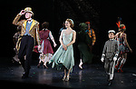 William Ryall, Emilee Dupre & Ethan Khusidman during the Curtain Call and check presentation to The Lil' Bravest Charity Inc. at 'Chaplin' at the Barrymore Theatre in New York City on 11/09/2012