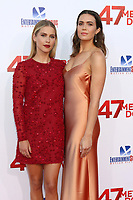 "LOS ANGELES - JUN 12:  Claire Holt, Mandy Moore at the ""47 Meters Down"" Premiere at the Village Theater on June 12, 2017 in Westwood, CA"
