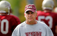 TALLAHASSEE, FLA. 3/26/11-FSU032611 CH-Offensive Line Coach Rick Trickett during practice Saturday in Tallahassee..COLIN HACKLEY PHOTO