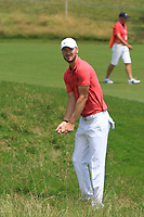 Chris Wood (ENG) on the 1st fairway during Round 4 of the HNA Open De France at Le Golf National in Saint-Quentin-En-Yvelines, Paris, France on Sunday 1st July 2018.<br /> Picture:  Thos Caffrey | Golffile