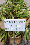 Vegetable stand.Sweet corn