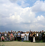 "Roma from all over Europe gathered for the 60th anniversary of ""zigeuner nacht"" in the Roma section of Auschwitz - Birkenau camp, on 2nd of August 2004."