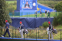 23 Sept 14 Phil MIckelson with Joe Skovron and Bones McCay during the Tuesday Practice Round at The Ryder Cup at The Gleneagles Hotel in Perthshire, Scotland. (photo credit : kenneth e. dennis/kendennisphoto.com)