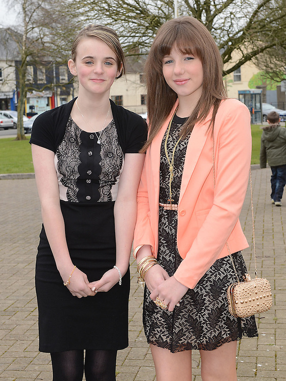 Chloe Shiels and Shannon Corry who were confirmed at the Church of the Nativity Ardee. Photo:Colin Bell/pressphotos.ie