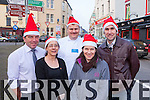 Killorglin traders all set for the Christmas rush l-r: Brian Jones Sally Henry, David Halliday Michelle O'Grady and Padraig O'Connor