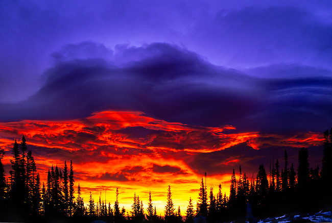 A Spectacular Sunrise near Brainard lakes in Indian Peaks Wilderness in Colorado. Shot with Fuji velvia Film!