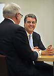 Meeting between Australian Trade Minister Andrew Robb and the WTO DG Roberto Azevedo at Parliament House, Canberra, Thursday 17th July 2014. Photo: Mark Graham