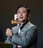 Fussball International  FIFA Ballon d Or / Frauen -Trainer des Jahres 2012  Pressekonferenz   07.01.2013 Trainer Norio Sasaki (Japan)