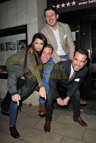 guests &amp; Ricky Rayment ( far right ) attend the Zippo's Cirque Berserk! press night, Peacock Theatre, Portugal Street, London, UK, on Tuesday 09 February 2016.<br /> CAP/CAN<br /> &copy;CAN/Capital Pictures