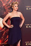 """US actress Jennifer Lawrence poses for the photographers during the Spain premiere of the movie """"The Hunger Games: Catching Fire"""" at Callao Cinema in Madrid, Spain. November 13, 2013. (ALTERPHOTOS/Victor Blanco)"""