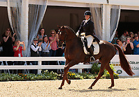 LEXINGTON, KY - April 28, 2017. Arthur and Allison Springer participate in the Dressage test in honor of Arthur's retirement from Eventing.  Rolex Three Day Event at the Kentucky Horse Park.  Lexington, Kentucky. (Photo by Candice Chavez/Eclipse Sportswire/Getty Images)