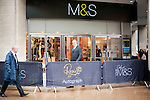 "Expected queues failed to materialise  at Marks and Spencer for..Rosie Huntington-Whitely.At M&S Oxford St.to promote her new range of underwear - lingerie -.""Rosie for Autograph."".On the way in she paused to kiss strange long haired blonde man.....Pic by Gavin Rodgers/Pixel 8000 Ltd"