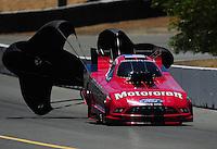 Jul. 18, 2010; Sonoma, CA, USA; NHRA funny car driver Bob Tasca III during the Fram Autolite Nationals at Infineon Raceway. Mandatory Credit: Mark J. Rebilas-