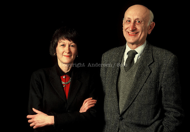 Jerome et Irene Lindon, french publisher, ovner of Editions de Minuit.