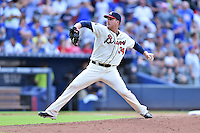 Atlanta Braves pitcher Eric O'Flaherty (34) delivers a pitch during a game against the Chicago Cubs at Turner Field on June 11, 2016 in Atlanta, Georgia. The Cubs defeated the Braves 8-2. (Tony Farlow/Four Seam Images)