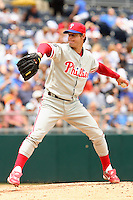 Philadelphia Phillies LHP Jamie Moyer starts at Kauffman Stadium in Kansas City, Missouri on June 10, 2007.  The Royals won 17-5.
