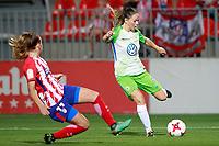Atletico de Madrid's Carmen Menayo (l) and VfL Wolfsburg's Sara Bjork Gunnarsdottir during UEFA Womens Champions League 2017/2018, 1/16 Final, 1st match. October 4,2017. (ALTERPHOTOS/Acero) /NortePhoto.com /NortePhoto.com