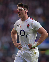 England's Tom Curry<br /> <br /> Photographer Bob Bradford/CameraSport<br /> <br /> Quilter Internationals - England v South Africa - Saturday 3rd November 2018 - Twickenham Stadium - London<br /> <br /> World Copyright &copy; 2018 CameraSport. All rights reserved. 43 Linden Ave. Countesthorpe. Leicester. England. LE8 5PG - Tel: +44 (0) 116 277 4147 - admin@camerasport.com - www.camerasport.com