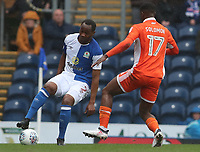 Blackburn Rovers' Ryan Nyambe and Blackpool's Viv Solomon-Otabor<br /> <br /> Photographer Rachel Holborn/CameraSport<br /> <br /> The EFL Sky Bet League One - Blackburn Rovers v Blackpool - Saturday 10th March 2018 - Ewood Park - Blackburn<br /> <br /> World Copyright &copy; 2018 CameraSport. All rights reserved. 43 Linden Ave. Countesthorpe. Leicester. England. LE8 5PG - Tel: +44 (0) 116 277 4147 - admin@camerasport.com - www.camerasport.com