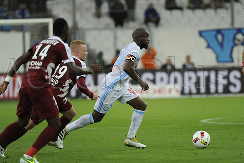 16.10.2016. Marseille, France. French league 1 football. Olympique Marseille versus Metz.  Diarra (OM)