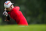Mi Hyang Lee of Korea in action during the Hyundai China Ladies Open 2014 Pro-am on December 10 2014, in Shenzhen, China. Photo by Xaume Olleros / Power Sport Images