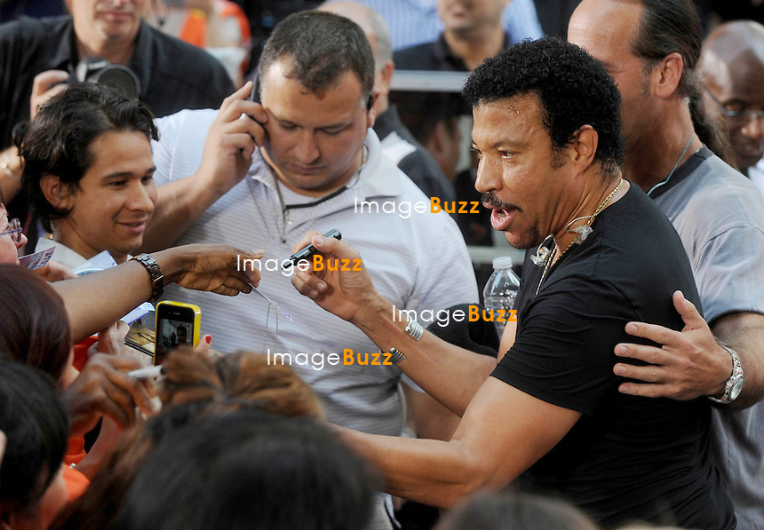 """Lionel Richie performs on """"The Today Show"""", in New York City..New York, August 16, 2012."""