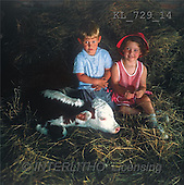 Interlitho, CHILDREN, photos, boy, girl, cow(KL729/14,#K#) Kinder, niños