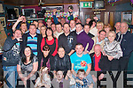 Robert Enright(seated 2nd from the Rt)Kerins Pk,Tralee had cracker at his 40th birthday party last Saturday night in the Greyhound bar,Pembroke St,Tralee with family and many friends.