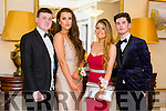 Enjoying the Gaelcholáiste Chiarraí Debs ball at the Brandon Hotel on Saturday were l-r  Jack Foley, Laura Brosnan, Ellen Rusk and Fionan O'Carroll.
