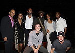 Starring Guiding Light Kim Brockington with L to R - Jacinto Taras Riddick, Kim Brockington, Trey Ellis (playwright), Robert Karma Robinson, Katherine Ella Wood, Serge Thony and front Joe Sinopoli and Christopher Kann on Opening Night of Kansas City Swing - A World Premiere on October 16 at Crossroads Theatre, New Brunswick, New Jersey  (Photo by Sue Coflin/Max Photos)