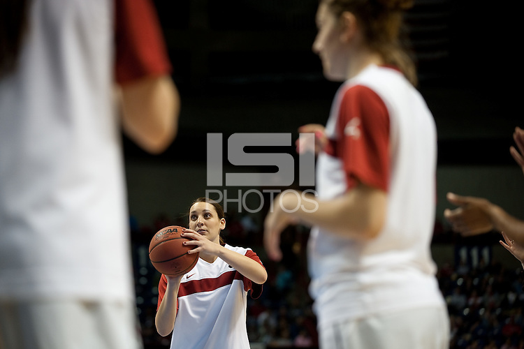 SPOKANE, WA - MARCH 26, 2011: Ashley Cimino, Stanford Women's Basketball vs University of North Carolina, NCAA West Regionals on March 26, 2011.