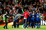 Manchester United players celebrate after the UEFA Europa League Final match at the Friends Arena, Stockholm. Picture date: May 24th, 2017.Picture credit should read: Matt McNulty/Sportimage