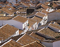 The tiled roofs of the village of Grazalema in the Serrania de Ronda, southern Spai