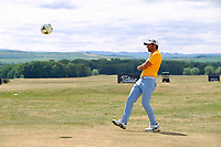 Adrian Otaegui (ESP) world cup fever during the preview of the Aberdeen Standard Investments Scottish Open, Gullane Golf Club, Gullane, East Lothian, Scotland. 11/07/2018.<br /> Picture Fran Caffrey / Golffile.ie<br /> <br /> All photo usage must carry mandatory copyright credit (&copy; Golffile | Fran Caffrey)