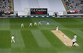 23rd March 2018, Eden Park, Auckland, New Zealand; International Test Cricket, New Zealand versus England, day 2;  BJ Watling plays a James Anderson delivery