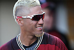Diamondbacks' Michael Perez plays in a spring training game against the Chicago Cubs in Phoenix, AZ, on Thursday, March 23, 2017.<br /> Photo by Cathleen Allison/Nevada Photo Source