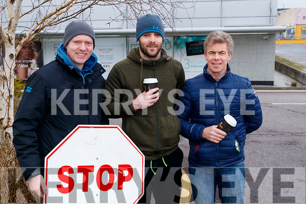 Joe O'Donoghue, Kieran Kennelly and Edward O'Mahony, at the Lacey Cup Cycle on Sunday morning last.