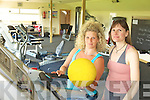 GYM: Checking out the equipment at the new community gym in Glenbeigh on Thursday last were l-r: Sonia Kusber and Jaquo Le Bourhis.