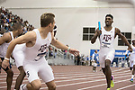 COLLEGE STATION, TX - MARCH 11: Fred Kerley of Texas A&M passes the baton in the men's 4x400 meter relay during the Division I Men's and Women's Indoor Track & Field Championship held at the Gilliam Indoor Track Stadium on the Texas A&M University campus on March 11, 2017 in College Station, Texas. (Photo by Michael Starghill/NCAA Photos/NCAA Photos via Getty Images)