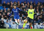 2nd February 2019, Stamford Bridge, London, England; EPL Premier League football, Chelsea versus Huddersfield Town; Juniho Bacuna of Huddersfield Town challenges Jorginho of Chelsea