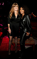 """LOS ANGELES - OCTOBER 26: (L-R) Connie Britton and Angela Bassett attend the red carpet event to celebrate 100 episodes of FX's """"American Horror Story"""" at Hollywood Forever Cemetery on October 26, 2019 in Los Angeles, California. (Photo by John Salangsang/FX/PictureGroup)"""