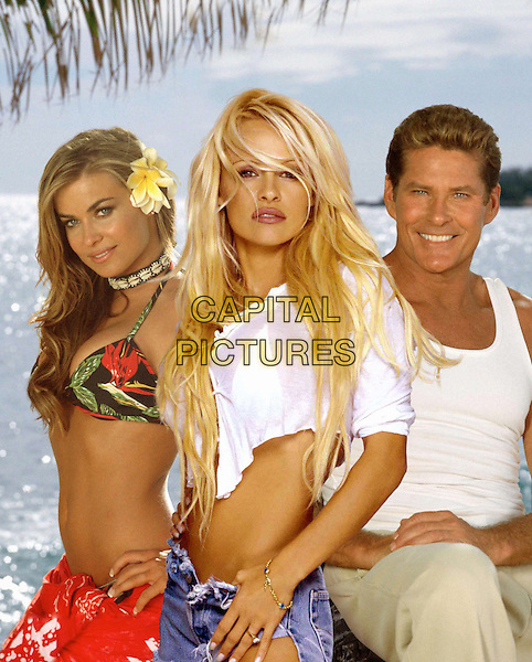 BAYWATCH HAWAIIAN WEDDING: BAYWATCH Pictured: Carmen Electra, Pamela Anderson and David Hasselhoff.  .Filmstill - Editorial Use Only.Ref: FB.sales@capitalpictures.com.www.capitalpictures.com.Supplied by Capital Pictures..